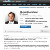 Michael Lombardi has a LinkedIn Page, Touting his NFL Experience